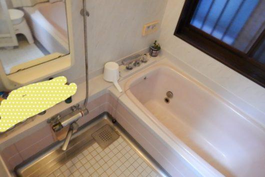 【before】経年劣化による浴室と脱衣室のリフォームです。きっかけは給湯器の不調でした。施工約1週間。